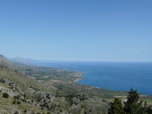 Kreta - widok nawyspę imorze zwąwozu Imbros doGeorgioupolis
