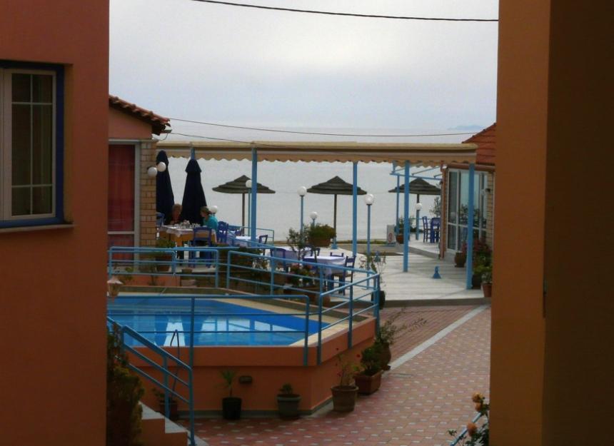 Widok zbalkonu nabasen imorze, Kreta, Grecja