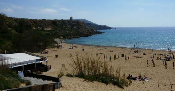 Plażowanie na Malcie