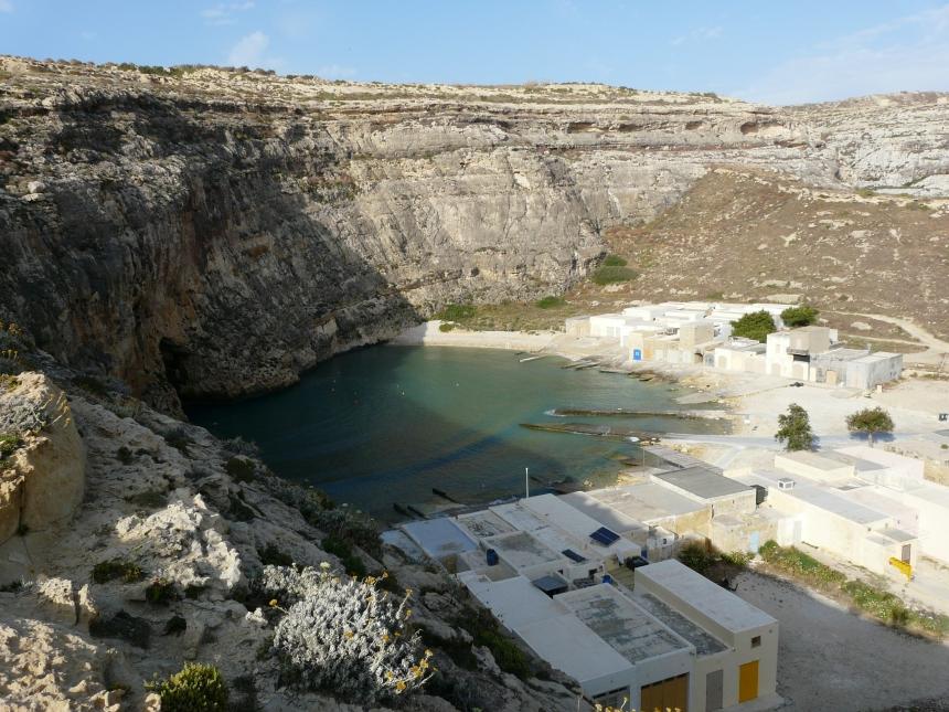 Zatoka Dwejra - tunel, Gozo