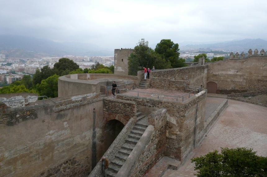 Zamek Gibralfaro, Malaga, Hiszpania