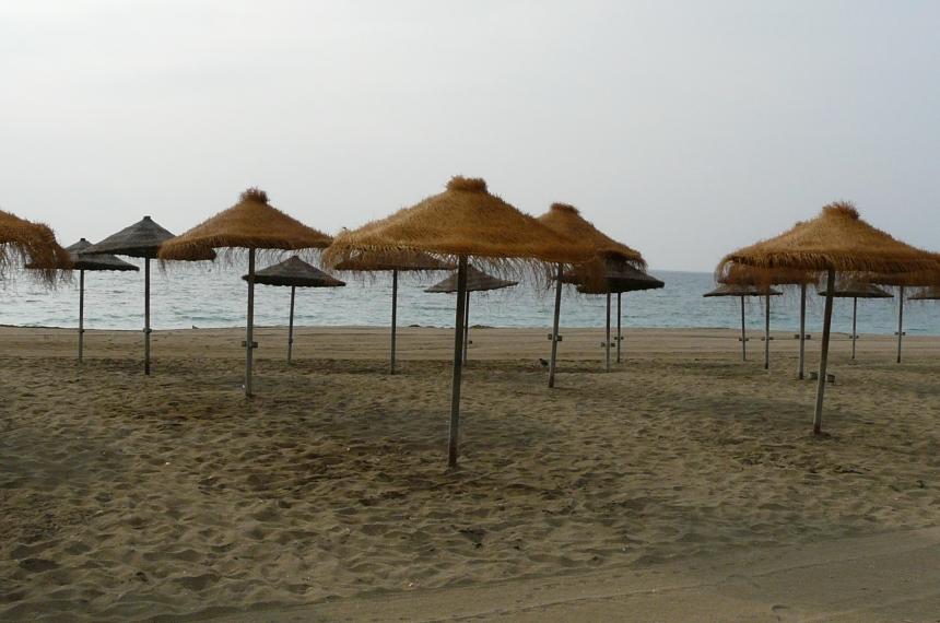 Plaża wMaladze, Andaluzja, Hiszpania