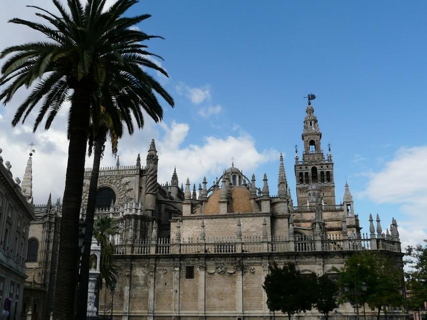 Katedra Najświętszej Marii Panny, widok zzewnątrz, Sewilla, Hiszpania