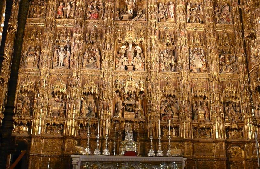 Katedra Najświętszej Marii Panny, wnętrze, Sewilla, Hiszpania