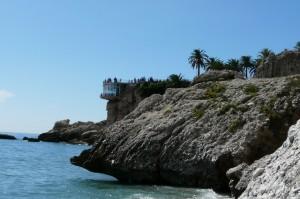 Balkon Europy zdołu, Nerja, Costa del Sol, Hiszpania
