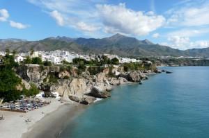 Widok zBalkonu Europy, Nerja, Costa del Sol, Hiszpania