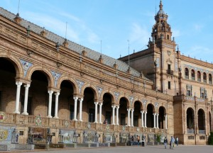 Plaza de España, Sewilla, Hiszpania