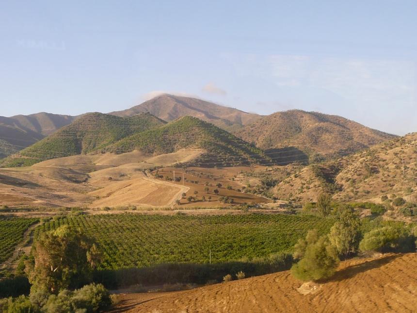 Andaluzja - widoki ztrasy Sewilla-Malaga