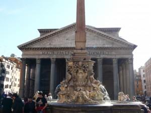 Piazza della Rotonda zobeliskiem, Rzym