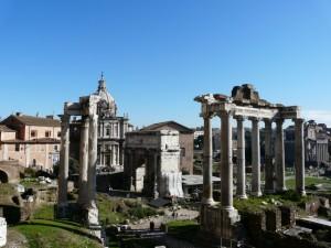 Do dziś zachowało się sporo budowli wForum Romanum