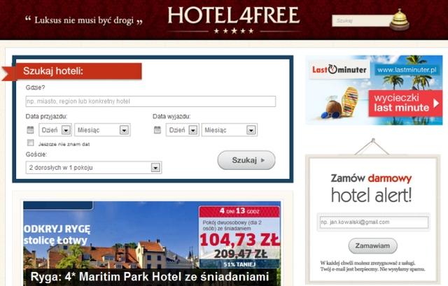 Hotel4free - wyszukiwarka hoteli