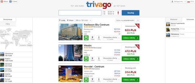 Trivago - wyszukiwarka hoteli