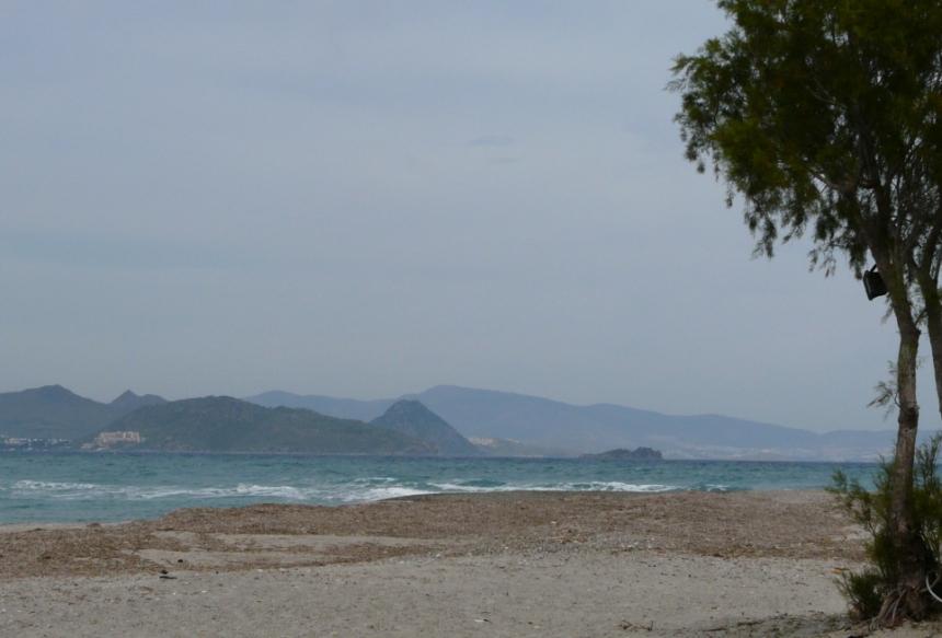 Plaża w miejscowości Lambi, wyspa Kos