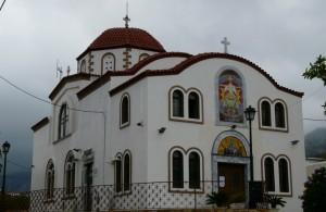 Kościół wmiasteczku Pili, wyspa Kos