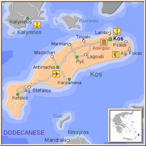Mapa Kos