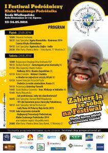 I Festiwal Podróżniczy Klubu Szalonego Podróżnika - program