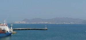 Widok naTurcję zZamku Neratzia, Kos