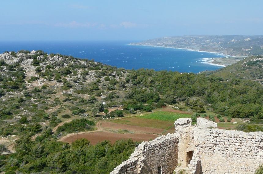 Widok zzamku Kritinia - Rodos