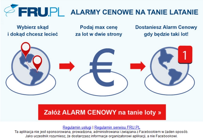 FRU.pl - test aplikacja dowyszukiwania tanich lotów