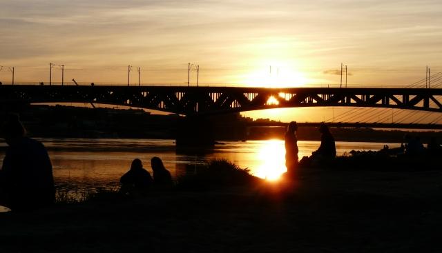 Zachód słońca nadWisłą, Warszawa