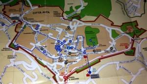 Mapa Bergamo, Włochy