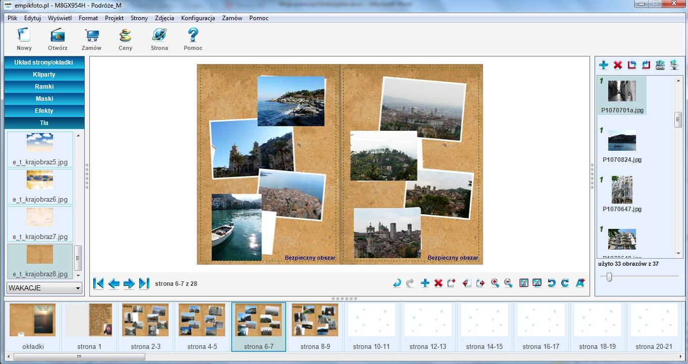 Empikfoto - fotoksiążka wtrakcie projektowania