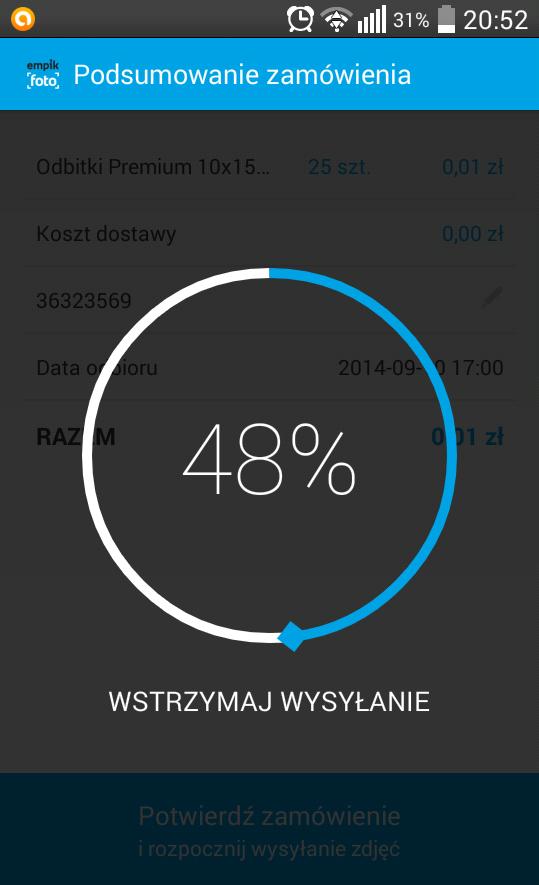 Test aplikacji mobilnej od empikfoto.pl