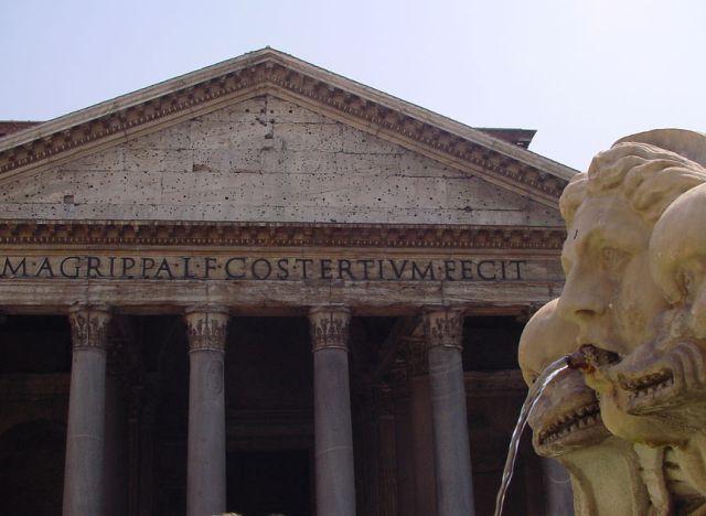 Źródełka zwodą pitną, Panteon, Rzym, Włochy