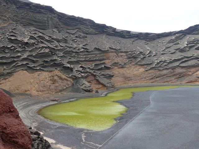 Charco de los Clicos - zielone jezioro naLanzarote
