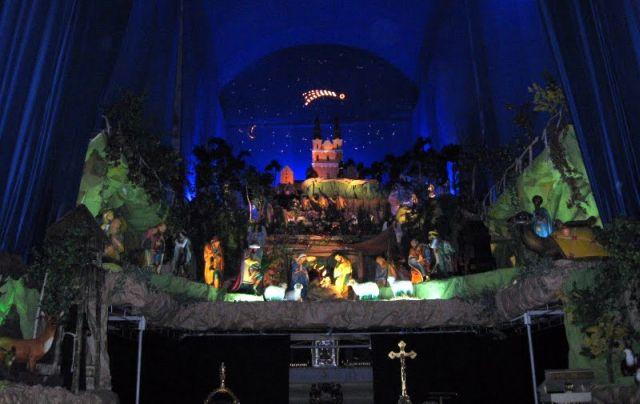 Szopka Bożonarodzeniowa kościele św. Franciszka Serafickiego przyPlacu Bernardyńskim