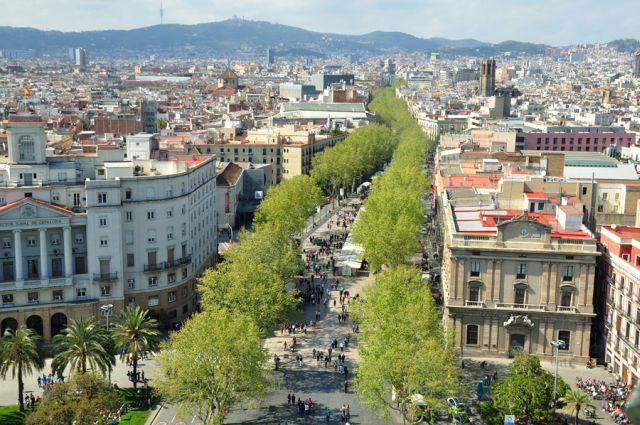 La Rambla - najsłynniejsza promenada wBarcelonie