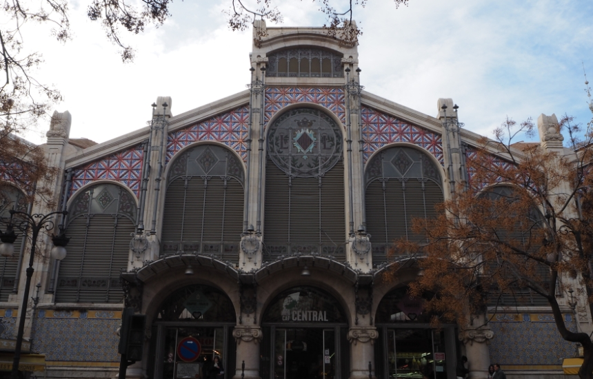 Mercado Central czylirynek miejski, wWalencji, widok zzewnątrz