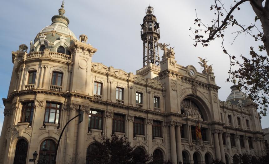 Plaza del Ayuntamiento, Walencja, Hiszpania