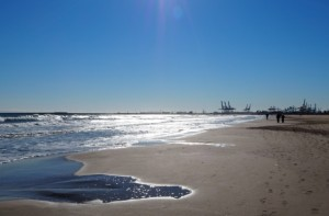 Playa de las Arenas, plaża wWalencji, Hiszpania