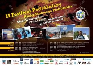 Oficjalny plakat IIFestiwalu podróżniczego wŚrodzie Wielkopolskiej