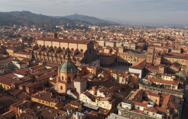 Bolonia, Włochy widok zwieży