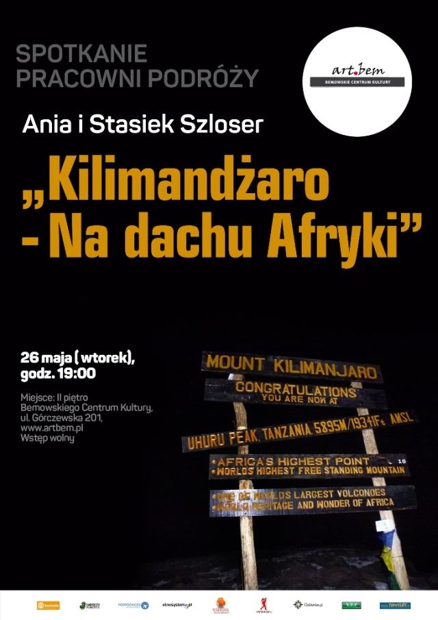 """Spotkanie Pracowni Podróży: """"Kilimandżaro - nadachu Afryki"""""""