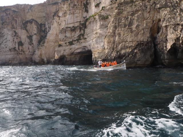 Blue Grotto wycieczka ze szkoły Maltalingua