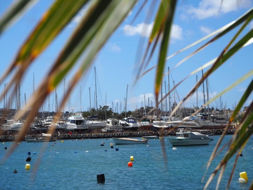 Malta - widok na port w Sliemie