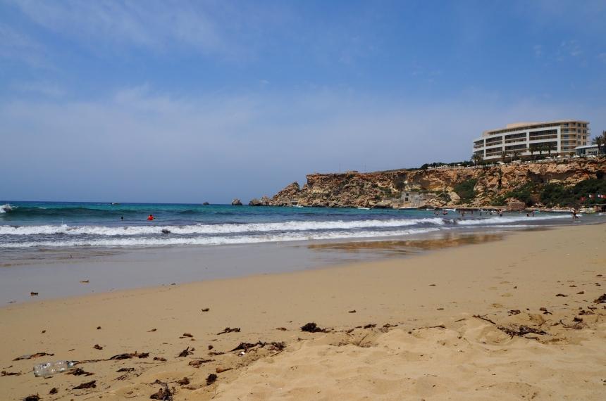 Plaża Golden Bay naMalcie