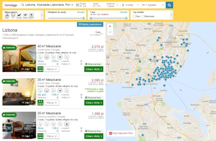 Hometogo - wyniki wyszukiwania noclegu