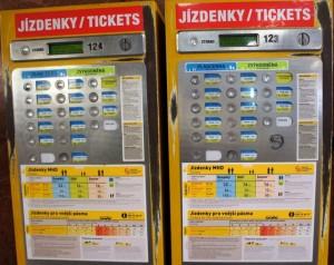 Automat nabilety, Praga Czechy