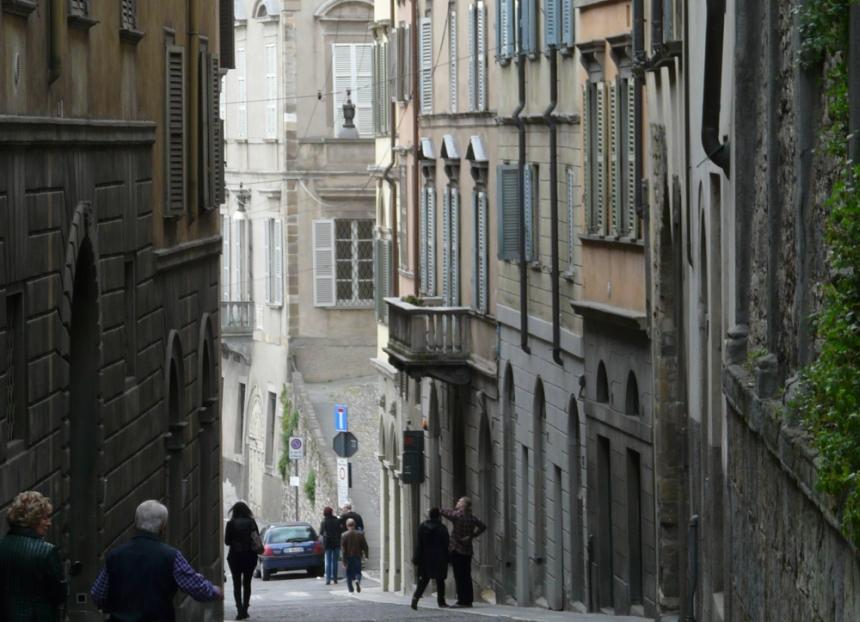 Włoski klimat wkażdym zakątku miasta Bergamo
