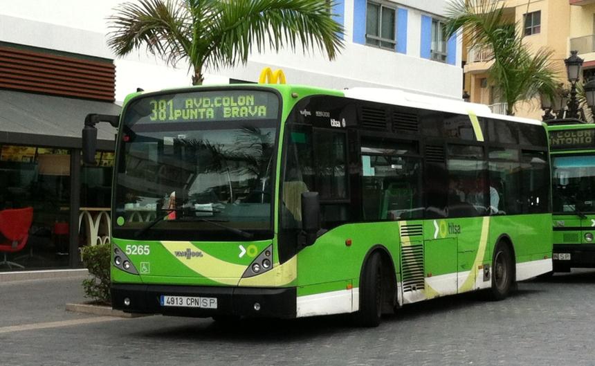 Komunikacja miejska naTeneryfie - lokalny autobus TITSA