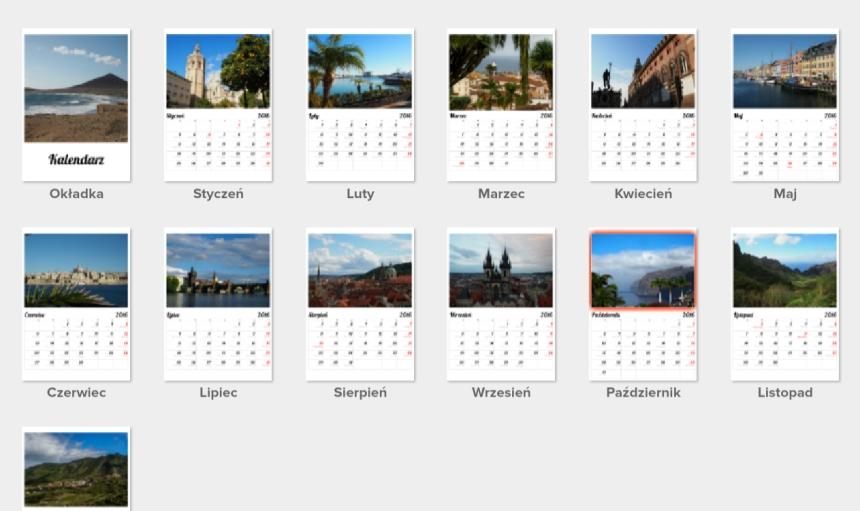 Cały fotokalendarz zgotowymi zdjęciami