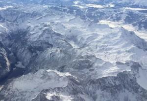 Alpy widziane zlotu samolotem