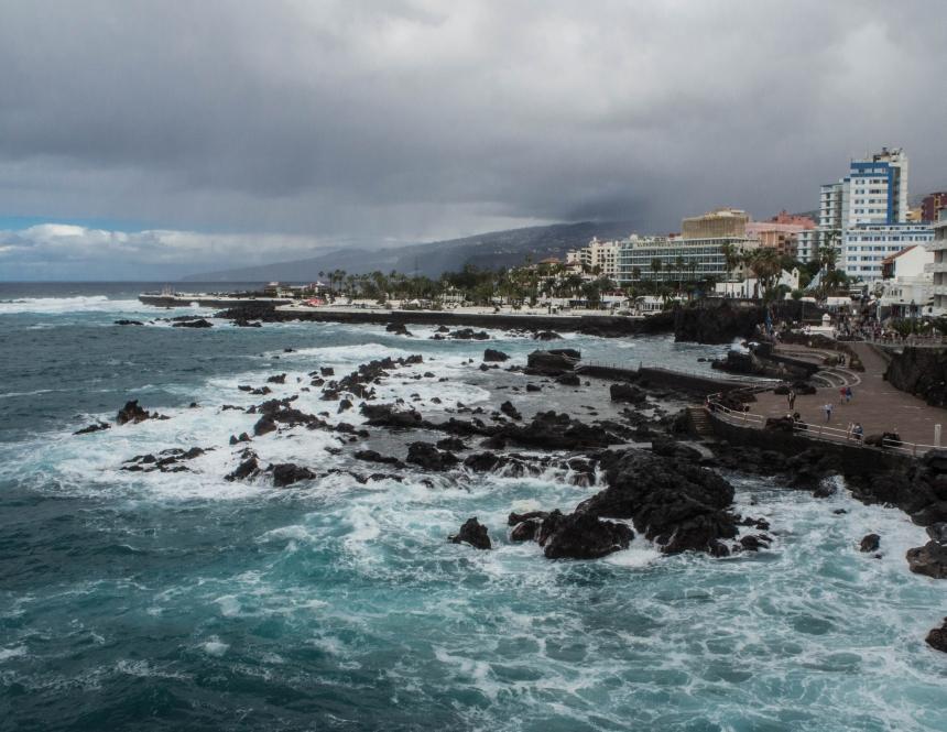 Wybrzeże wPuerto de la Cruz, Teneryfa