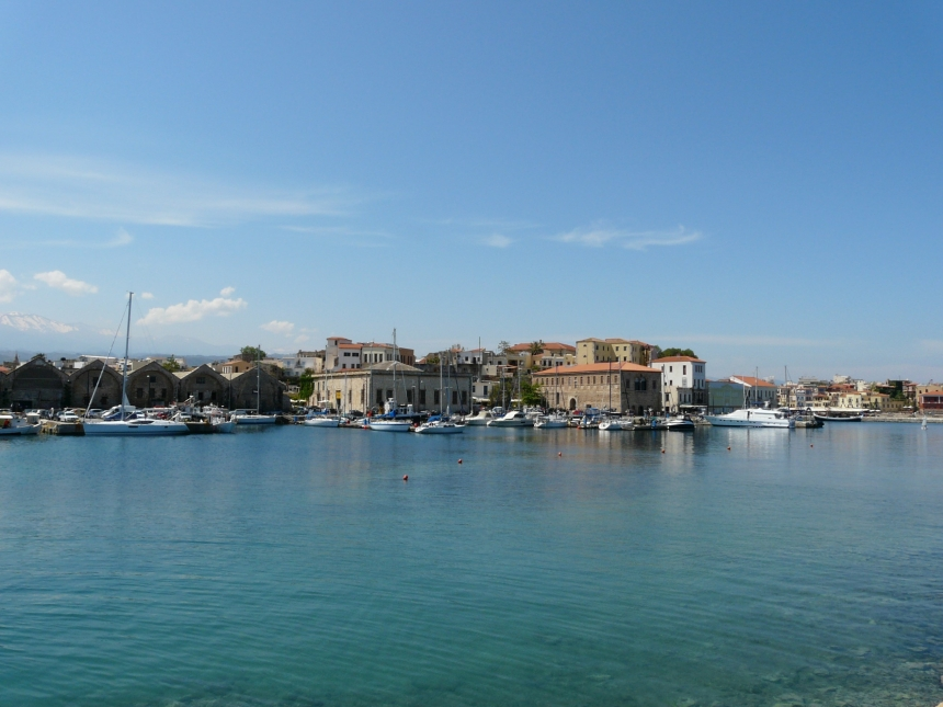 Port wmieście Chania, Kreta