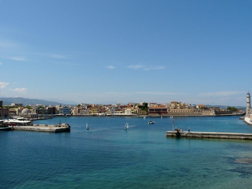 Widok naChanię, Kreta