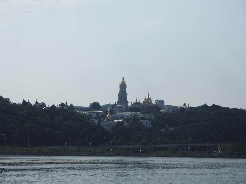 Kijów - rzeka Dniepr iwidok naŁawrę Peczerską